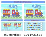find the difference the two... | Shutterstock .eps vector #1011931633