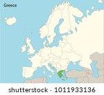 europe map  greece | Shutterstock .eps vector #1011933136