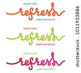 vector lettering concept logo ... | Shutterstock .eps vector #1011933886