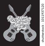 rockstars only. vector hand... | Shutterstock .eps vector #1011937120