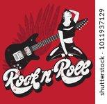 rock ' n ' roll.  handwritten... | Shutterstock .eps vector #1011937129