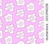 doodle flower pattern vector   | Shutterstock .eps vector #1011940258