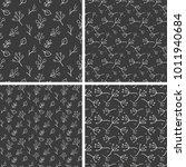 pattern branch doodle vector  | Shutterstock .eps vector #1011940684