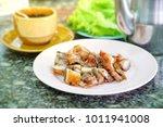 grilled crispy pork  it s...   Shutterstock . vector #1011941008