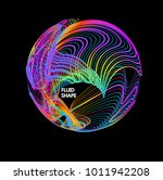 moving colorful lines of... | Shutterstock .eps vector #1011942208
