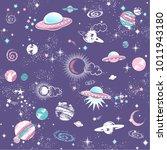 space galaxy constellation... | Shutterstock .eps vector #1011943180