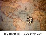 old compass on vintage map.... | Shutterstock . vector #1011944299