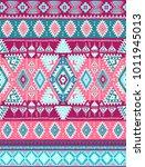 geometric aztec pattern. tribal ... | Shutterstock .eps vector #1011945013