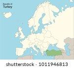 europe map  turkey | Shutterstock .eps vector #1011946813
