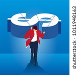 man carrying money to move...   Shutterstock .eps vector #1011948163