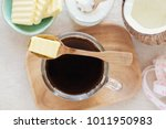 bulletproof coffee  blended... | Shutterstock . vector #1011950983