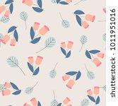 vintage seamless pastel vectorn ... | Shutterstock .eps vector #1011951016