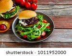 tasty home made meat burgers...   Shutterstock . vector #1011952000