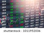 stock market or forex trading... | Shutterstock . vector #1011952036