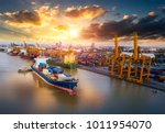 logistics and transportation of ... | Shutterstock . vector #1011954070