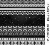 vector black and white tribal...   Shutterstock .eps vector #1011955918