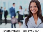 young businesswoman and her... | Shutterstock . vector #1011959464
