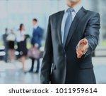 a business man with an open...   Shutterstock . vector #1011959614