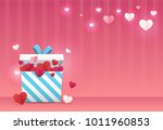 valentines day background. a... | Shutterstock .eps vector #1011960853