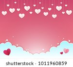 valentines day background. many ... | Shutterstock .eps vector #1011960859
