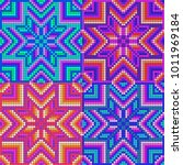 mexican pattern inspired by... | Shutterstock .eps vector #1011969184