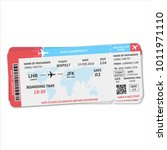two boarding pass tickets.... | Shutterstock .eps vector #1011971110
