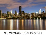 nyc midtown skyline from long... | Shutterstock . vector #1011972814