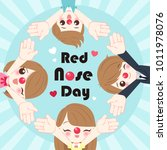 People With Red Nose Day On Th...