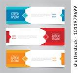 set of modern colorful banner...   Shutterstock .eps vector #1011979699