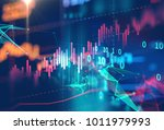 financial stock market graph on ... | Shutterstock . vector #1011979993