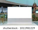 billboard or advertising poster ... | Shutterstock . vector #1011981229