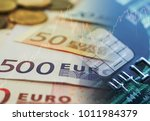 euro currency exchange with... | Shutterstock . vector #1011984379