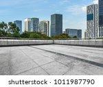 empty brick floor with... | Shutterstock . vector #1011987790