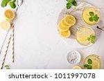 lemonade or citrus cocktail...   Shutterstock . vector #1011997078