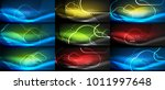 set of vector neon cloud... | Shutterstock .eps vector #1011997648