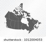 map of canada  vector... | Shutterstock .eps vector #1012004053