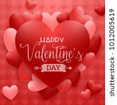 happy valentines day background ... | Shutterstock .eps vector #1012005619