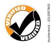 verified sticker vector... | Shutterstock .eps vector #1012007803