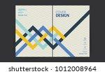 book cover design. annual... | Shutterstock .eps vector #1012008964