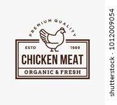 chicken   vector logo icon... | Shutterstock .eps vector #1012009054