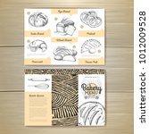 vintage bakery menu design.... | Shutterstock .eps vector #1012009528