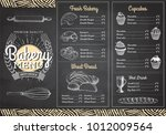 vintage chalk drawing bakery... | Shutterstock .eps vector #1012009564