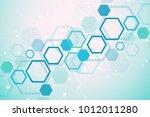 molecular concept of neurons...   Shutterstock .eps vector #1012011280