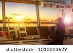 wheelhouse control board of... | Shutterstock . vector #1012013629