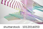 abstract white and colored... | Shutterstock . vector #1012016053