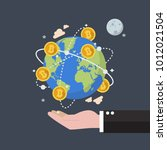 cryptocurrency bitcoin global... | Shutterstock .eps vector #1012021504