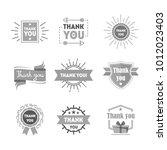 cartoon thank you silhouette... | Shutterstock .eps vector #1012023403