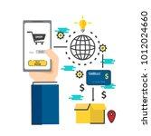 e commerce business concept.... | Shutterstock .eps vector #1012024660