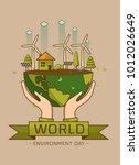 world environment day. vector... | Shutterstock .eps vector #1012026649