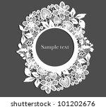 lace frame. eps 10 | Shutterstock .eps vector #101202676